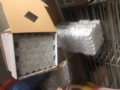 2018 Каррара мраморная мозаичная плитка экспорт в США