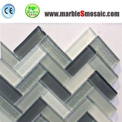 Pierre naturelle mosaïque mosaïque de verre Vs