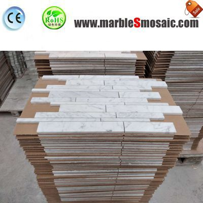 2018.04 White Marble Strip Mosaic Export To Canada