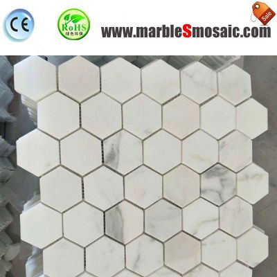 What Type Of Bianco Carrara Mosaic Used For Bathroom