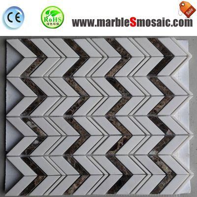 Do You Like Marble Mosaic Chevron Styles?