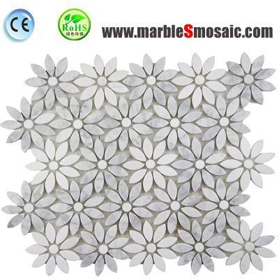 Flower Pattern Carrara Mosaic