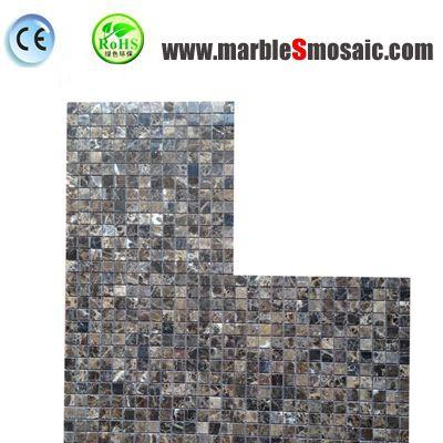 Mosaico cuadrado oscuro de Emperador