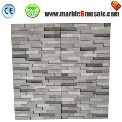 3 Colors Wooden Marble Mosaic