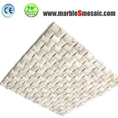 3D Arched Travertine Mosaic Tile