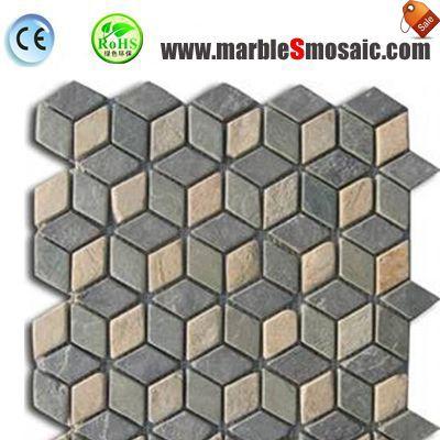 3D Black Slate Stone Mosaic