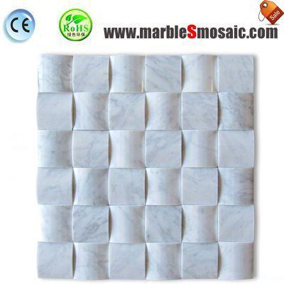 3D Polish White Marble Mosaic