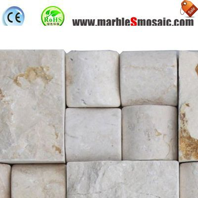 3D Split Travertine Stone Mosaic