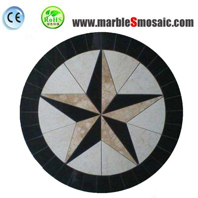 5 Star Water Jet Marble Mosaic Tile