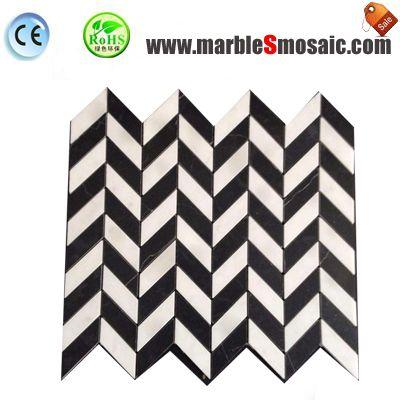 Pfeil-Stil Carrara-Marmor-Mosaik
