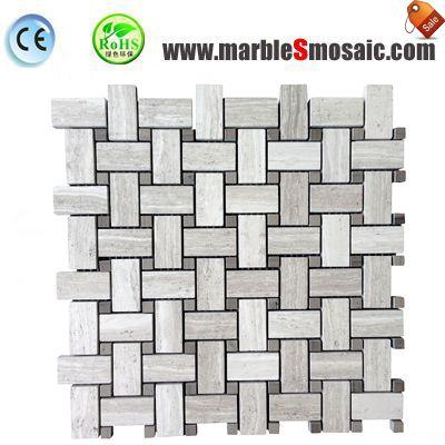 Athens White Marble Mosaic Tile