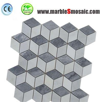 Bathroom Cubic 3D Marble Mosaic