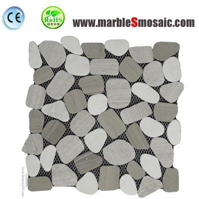 Bathroom Floor Grey Marble Mosaic