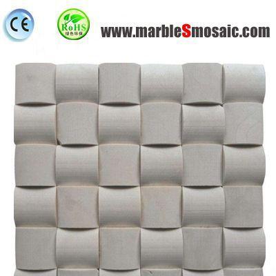 Beige 3D Marble Mosaic Tiles