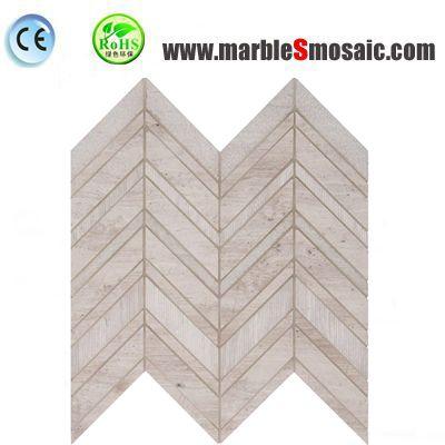 Beige Chevron Marble Mosaic
