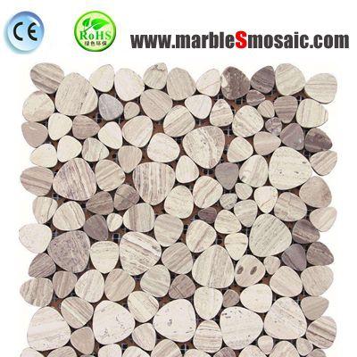 Beige Pebble Round Marble Mosaic