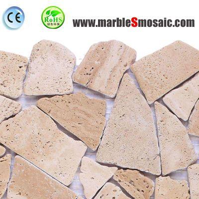 Beige Stone Random Mosaic Tile