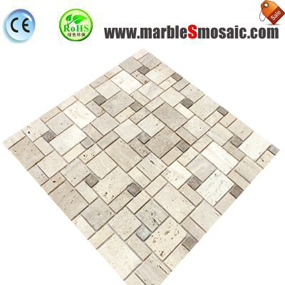 Beige Versailles Travertine Wall Mosaic