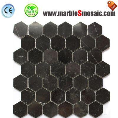 Black Laurent Brown Marble Mosaic