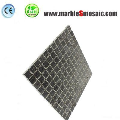 Black Square Granite Mosaic
