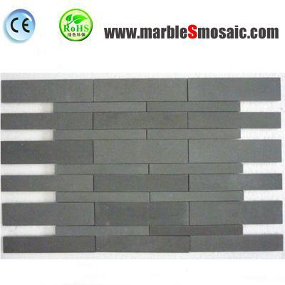 Bluestone Basalt Strips Mosaic Tiles