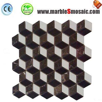 Brown 3D Marble Mosaic Sheet