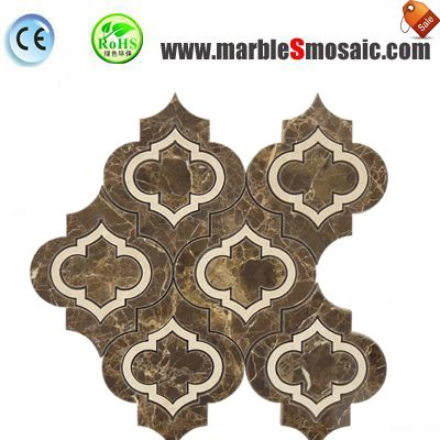 Brown Arabesque Marble Mosaic Sheet
