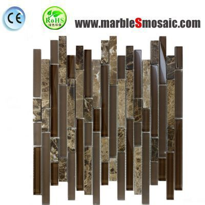 Brown Glass Marble Mosaic Sheet