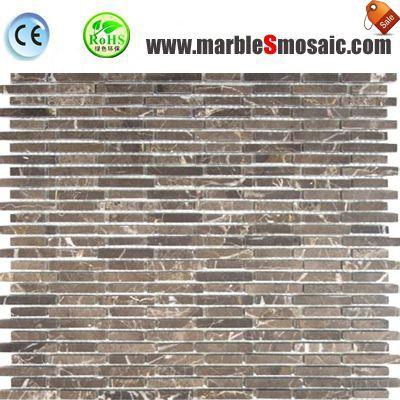Brown Marble Mosaic Floor Tile
