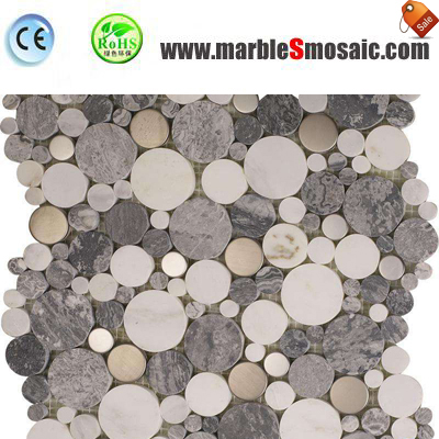 Bubble Round Mixed Marble Mosaic