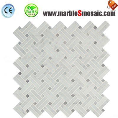 Carrara Basketweave Wall Mosaic Tile