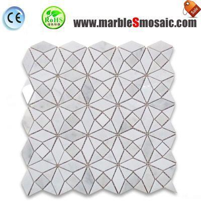 Carrara Diamond Triangle Mosaic Tile