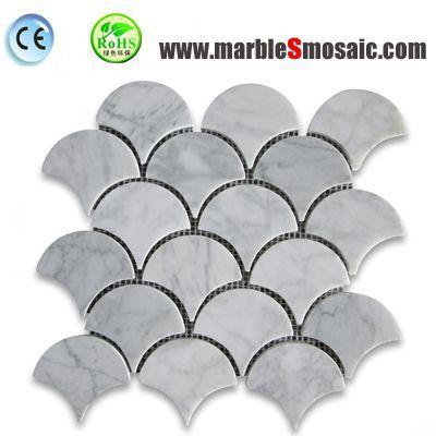Carrara Fisch skalieren Marmor-Mosaik