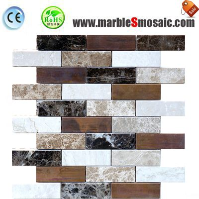 Colorful Bricks Marble Mosaic