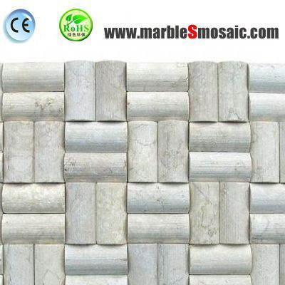 Column 3d Beige Marble Mosaic