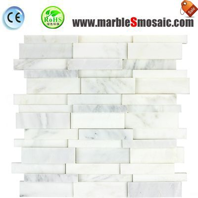 Concave Convex White Marble Mosaic