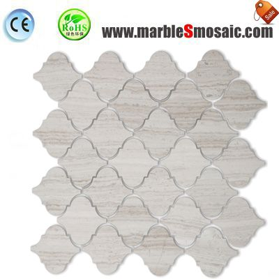 Cream Marble Arabesque Mosaic Tile