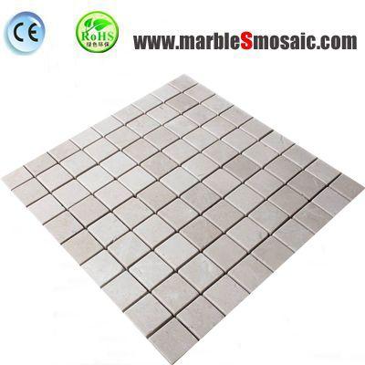 Крем мраморная мозаичная плитка на площади
