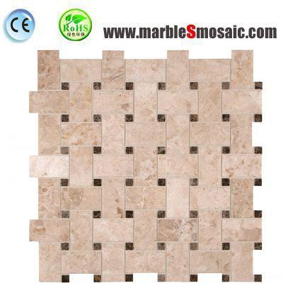 Cream Wall Basketweave Marble Mosaic
