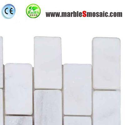Briques de marbre blanc cristal mosaïque