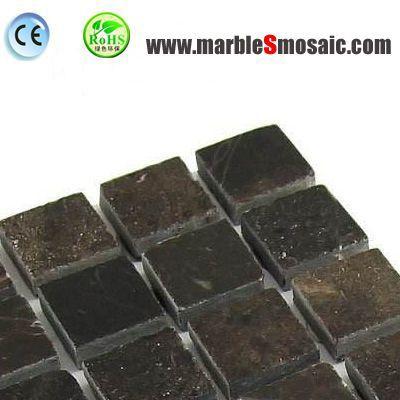Dark Brown Square Marble Mosaic