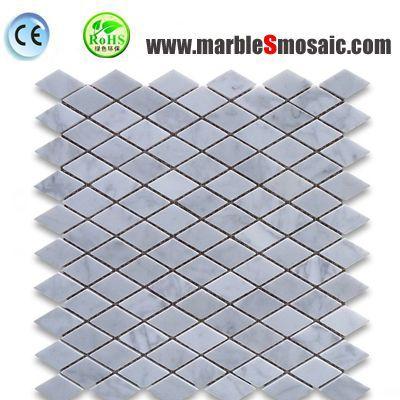 Diamond Cut Carrara Marble Mosaic