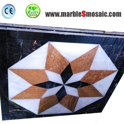 Eight Pointed Star Waterjet Mosaic