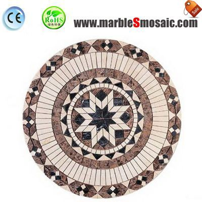 Eight Star Water Jet Marble Mosaic