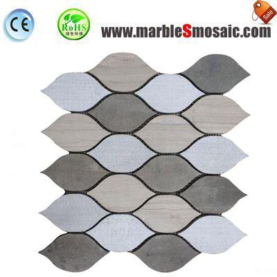 Poissons de Style mosaïque de marbre gris