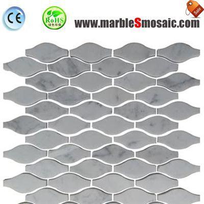 Gourd Carrara Marble Mosaic Tile