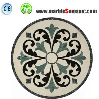 Green Flower Water jet Marble Mosaic