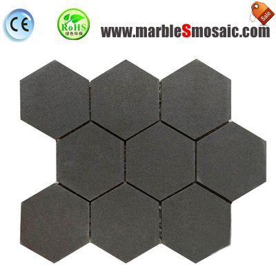 Grey Bluestone Basalt Stone Mosaic