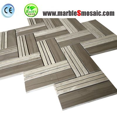 Grey Color Athens Marble Mosaic