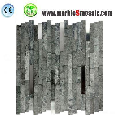 Tuile de mosaïque de Split en marbre gris
